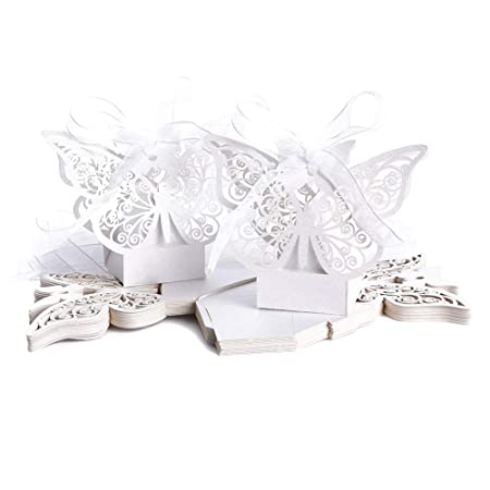 20 pcs bomboneras Mariposa láser Cut Wedding Suits Box ...