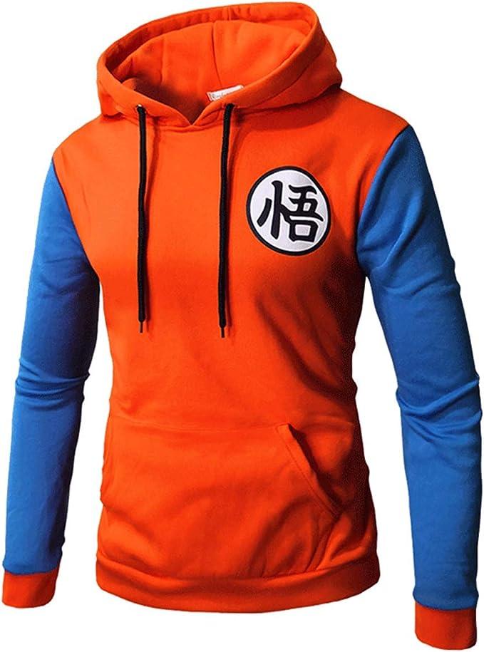 CosplayLife Goku suéter de Moda con Capucha, Bolsillo Canguro ...