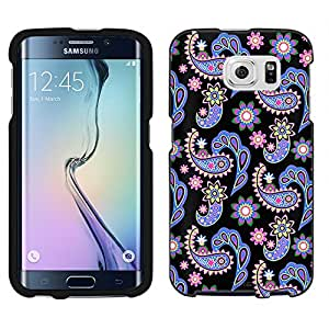 Samsung Galaxy S6 Case, Snap On Cover by Trek Paisley Pastel on Black Case