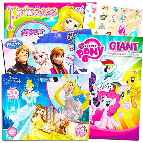 Disney MLP Coloring Book Super Set for Girls -- 3 Giant Colo