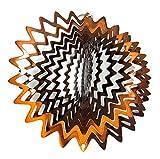 """Shipityourway 6.5"""" 3D Wind Spinner Copper Splash Star Metal Reflective Yard Art Lawn Twister + Swivel"""