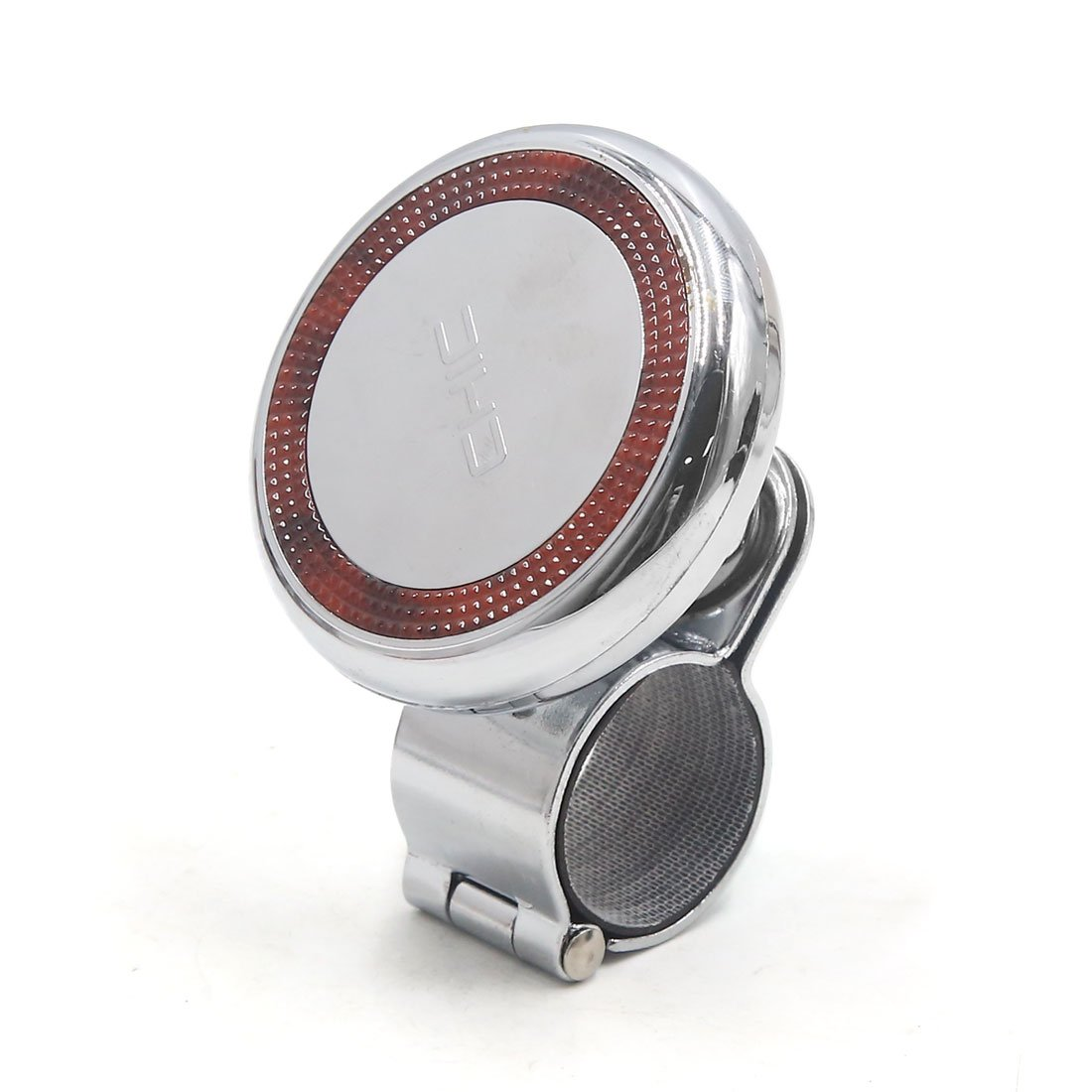 uxcell Car Auto Steering Wheel Grip Spinner Power Handle Knob Booster Silver Tone