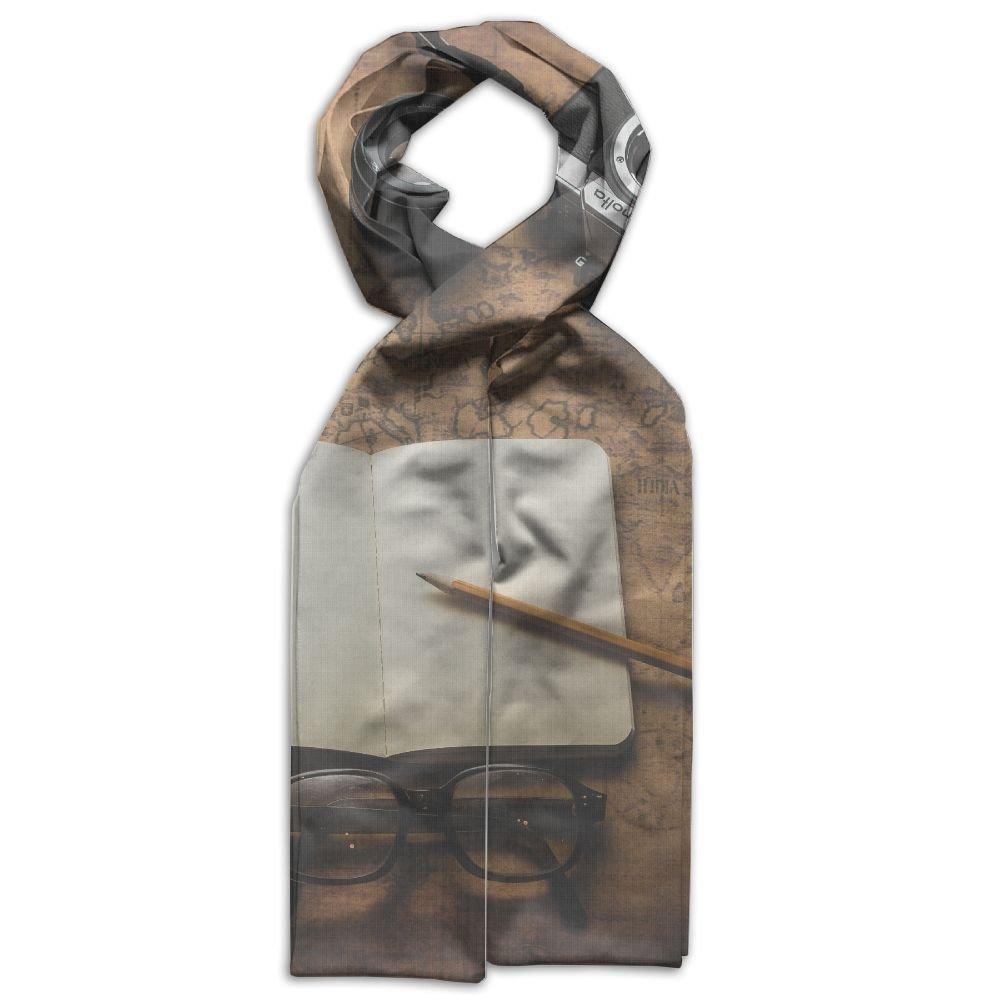 DGYEG44 Camera Journal Travel Printing Scarf Kids Warm Soft Fashion Scarf Shawl For Autumn Winter