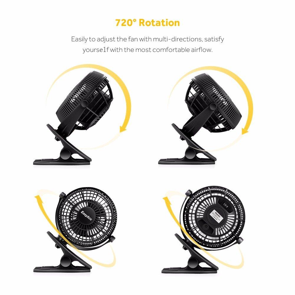 Easyacc Clip Schreibtisch Ventilator Mini Lüfter: Amazon.de ...