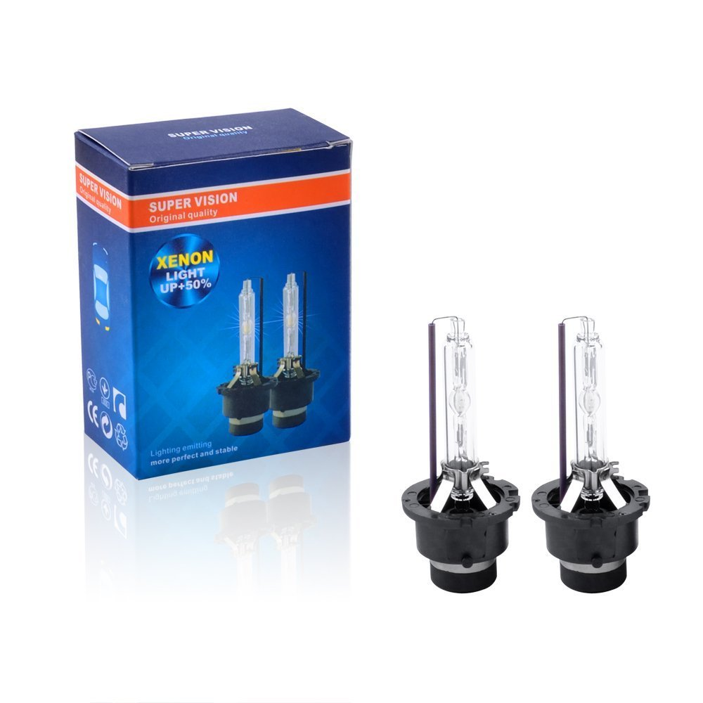 Fly Kan D1S 4300K 35W HID Xenon Headlight Replacement Bulbs(Pack of 2)
