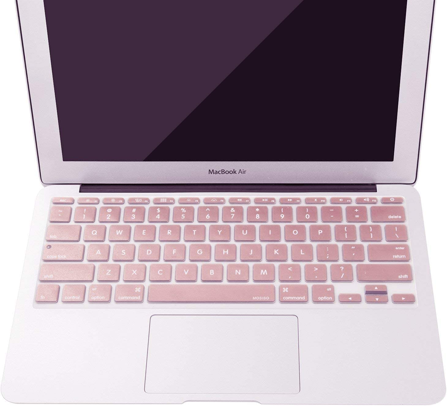 Rose Gold MOSISO Protective Keyboard Cover Skin Compatible with MacBook Air 11 inch Models: A1370 /& A1465