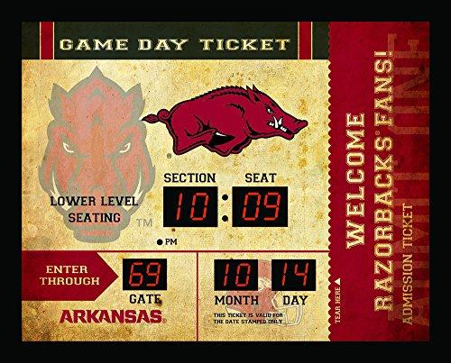 Team Sports America NCAA Bluetooth Scoreboard Wall Clock, Arkansas Razorbacks - Arkansas Razorbacks Clock