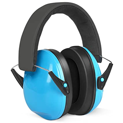 83c7a486 Ear Defenders Kids, Lookka Foldable Adjustable Hearing Protection Noise  Cancelling Blue Ear Muffs for Children