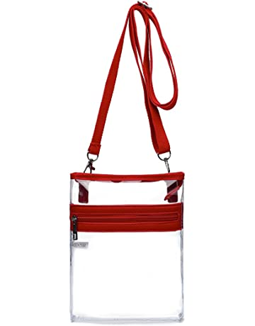 36eb019454a Small Clear Messenger Bag - Stadium Approved - with Front Zipped Pocket and  Adjustable Shoulder Strap