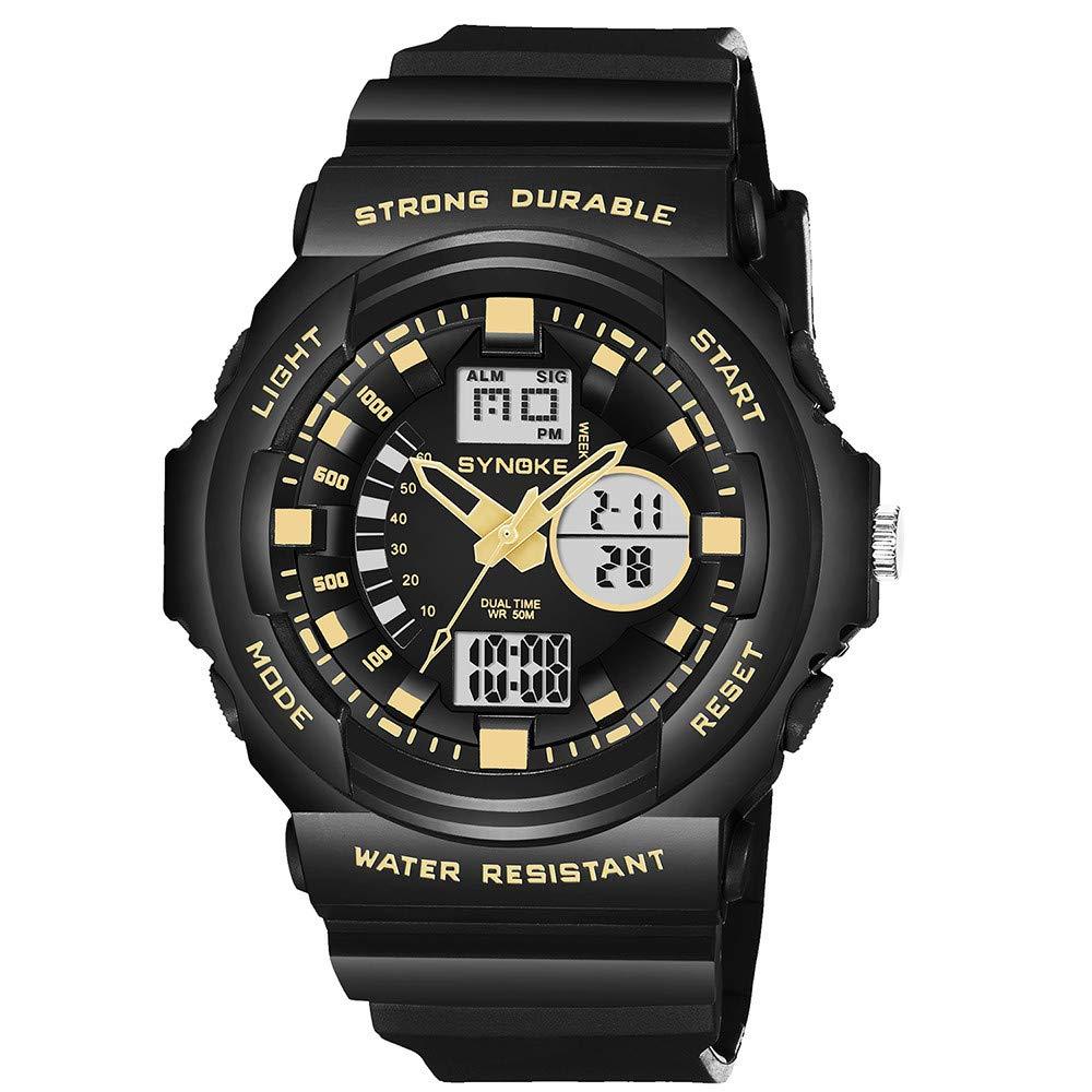 Bestow SYNOKE Multi-Function 50M Reloj Impermeable LED Digital Reloj de Acciš®n Doble Reloj Deportivo(Azul): Amazon.es: Ropa y accesorios
