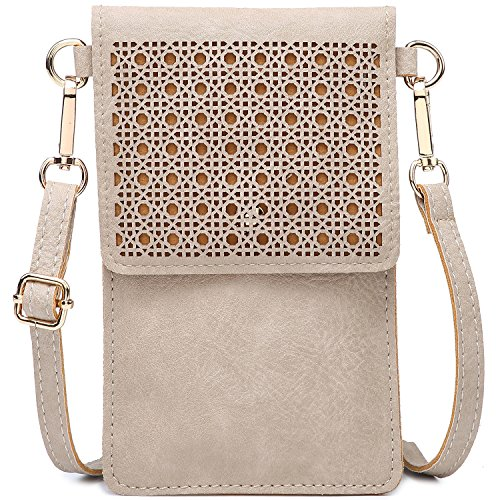 seOSTO Small Crossbody Bag Cell Phone Purse Wallet with 2 Shoulder Strap Handbag for Women Girls (Beige) … by seOSTO (Image #1)
