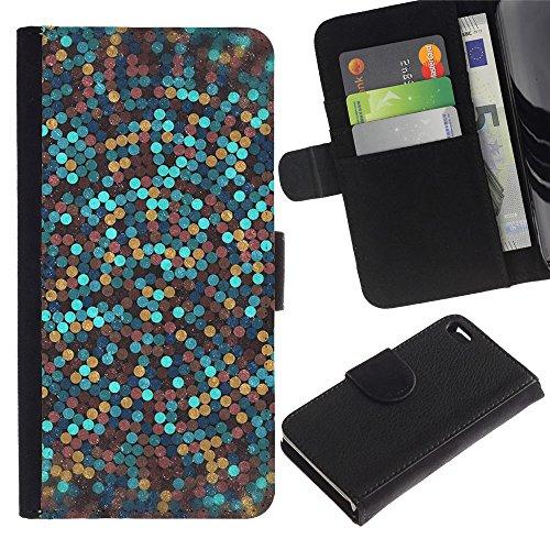 LASTONE PHONE CASE / Luxe Cuir Portefeuille Housse Fente pour Carte Coque Flip Étui de Protection pour Apple Iphone 4 / 4S / glitter gold bronze blue clean awesome