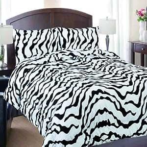 New twin size 3 piece zebra print style 800 for Zebra kitchen set