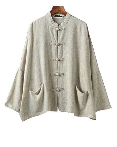 IXIMO Womens 100/% Linen Blazers Long Sleeve 1 Button Suit Coats Casual Work Jackets