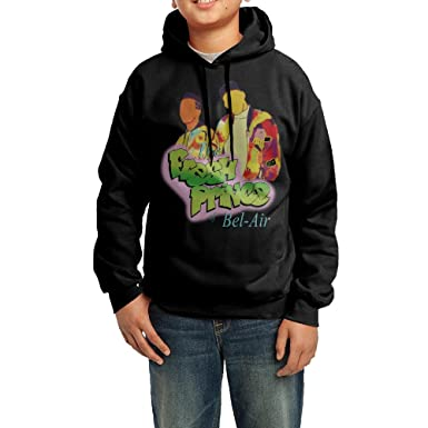 4c5f534d593d Youth Boys   Girls The Fresh Prince Of Bel-Air Pullover Hooded Sweatshirt  Medium Black