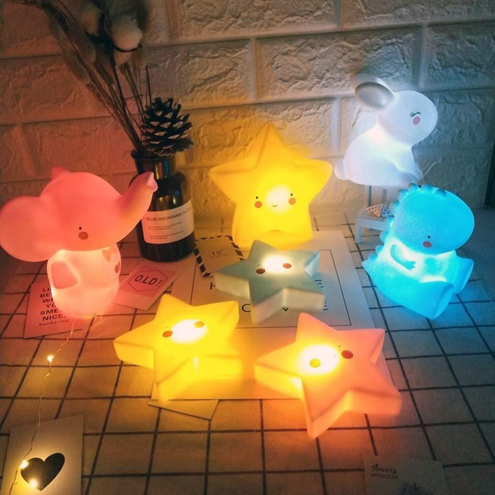 80 Babysbreath17 Enfants Cartoon LED lumi/ère de Nuit Enfants Chambre Table Lampe de Chevet Moon Star Veilleuse Cadeau Lune 150 82mm