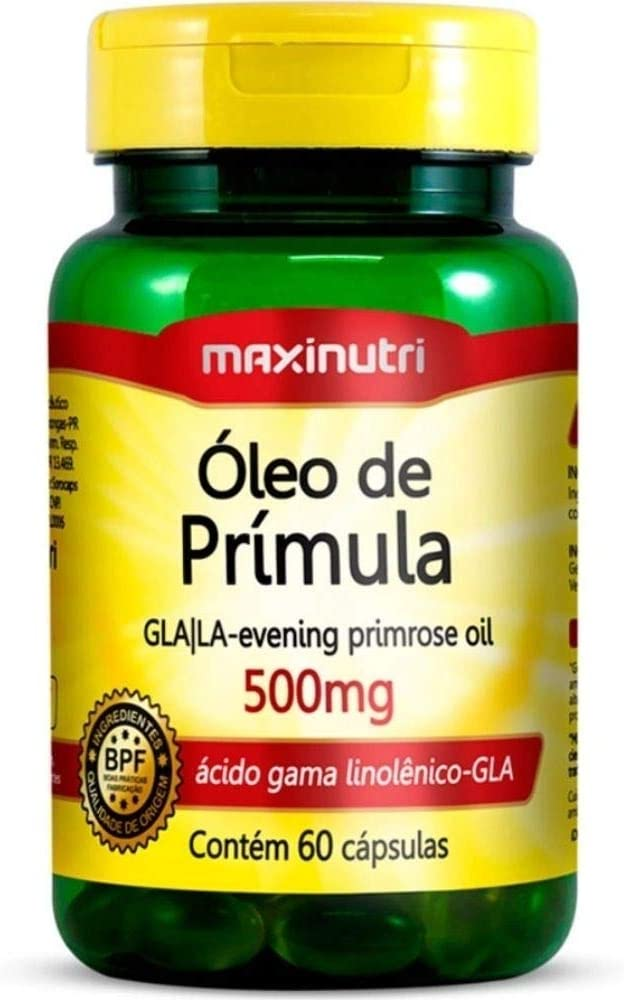 Óleo de Prímula 500mg - 60 Cáps, Maxinutri