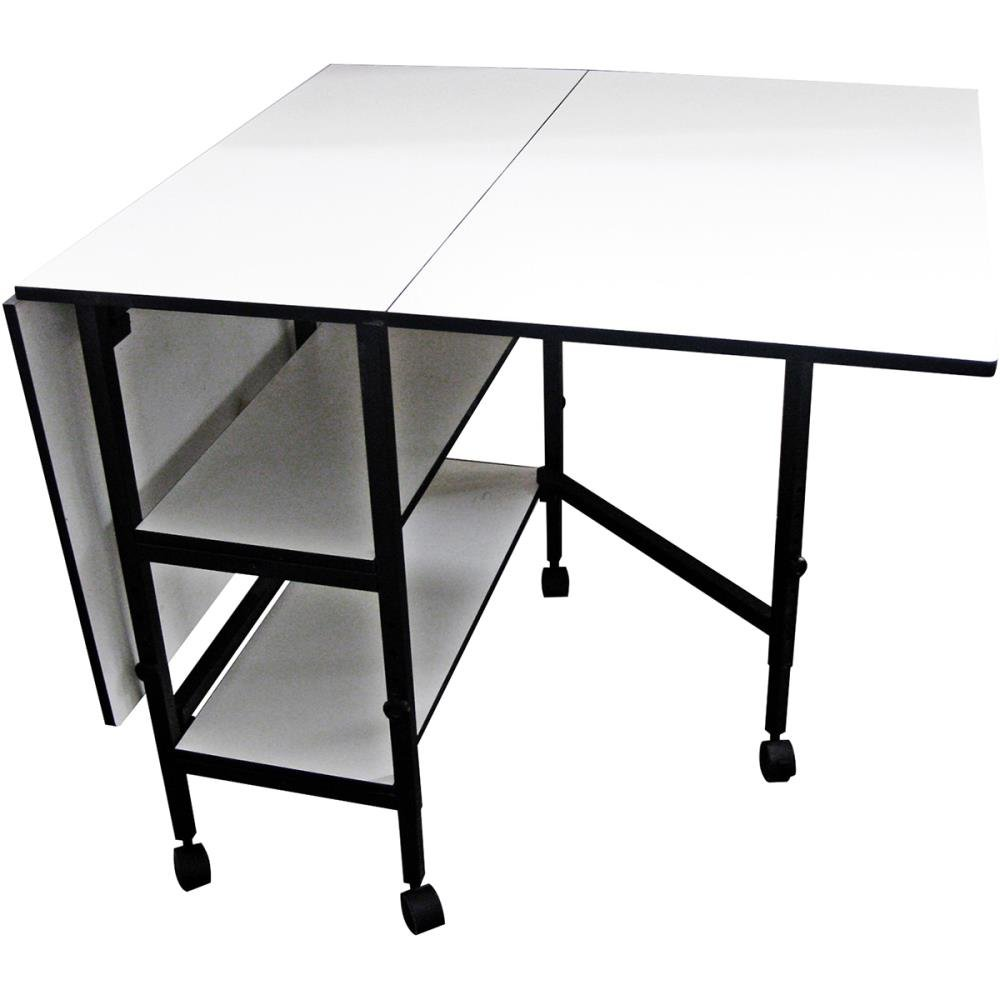 Amazon.com: Sullivans 38431 Home Hobby Adjustable Height Foldable Table, 59  X 35.8