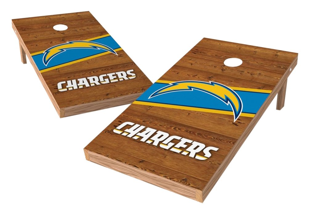 PROLINE NFL Los Angeles Chargers 2'x4' Cornhole Board Set - Logo Design by PROLINE (Image #1)