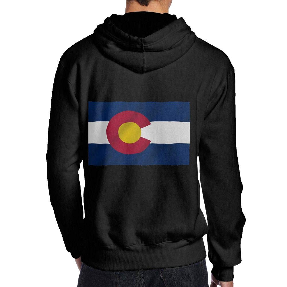 JHDKDGH-N Colorado State Flag Gay Pride Back Print Long Sleeve Sweater for Man
