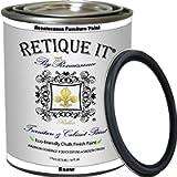Renaissance Chalk Finish Paint - Snow 1 Pint (16oz) - Chalk Furniture & Cabinet Paint - Non Toxic, Eco-Friendly…