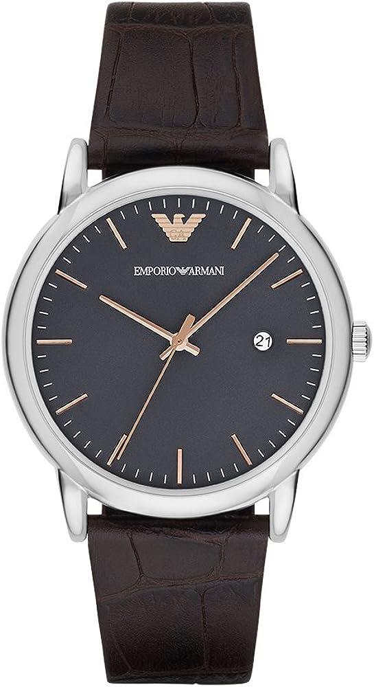 Emporio Armani Men s AR1996 Dress Brown Leather Quartz Watch