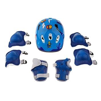 Niños Casco Rodilla Codo Muñeca Juego De Almohadillas De Protección Para Patinaje En Línea Moto -