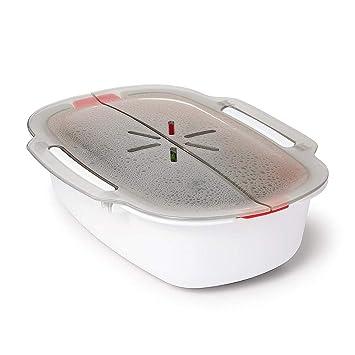 Estuche de vapor de plástico, plástico libre de BPA, para cocinar ...