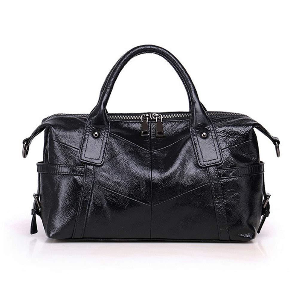 Black Women Genuine Leather Handbag Female Real Cowhide Bag Crossbody Shoulder Bags Large Capacity Ladies Tote TopHandle Satchel