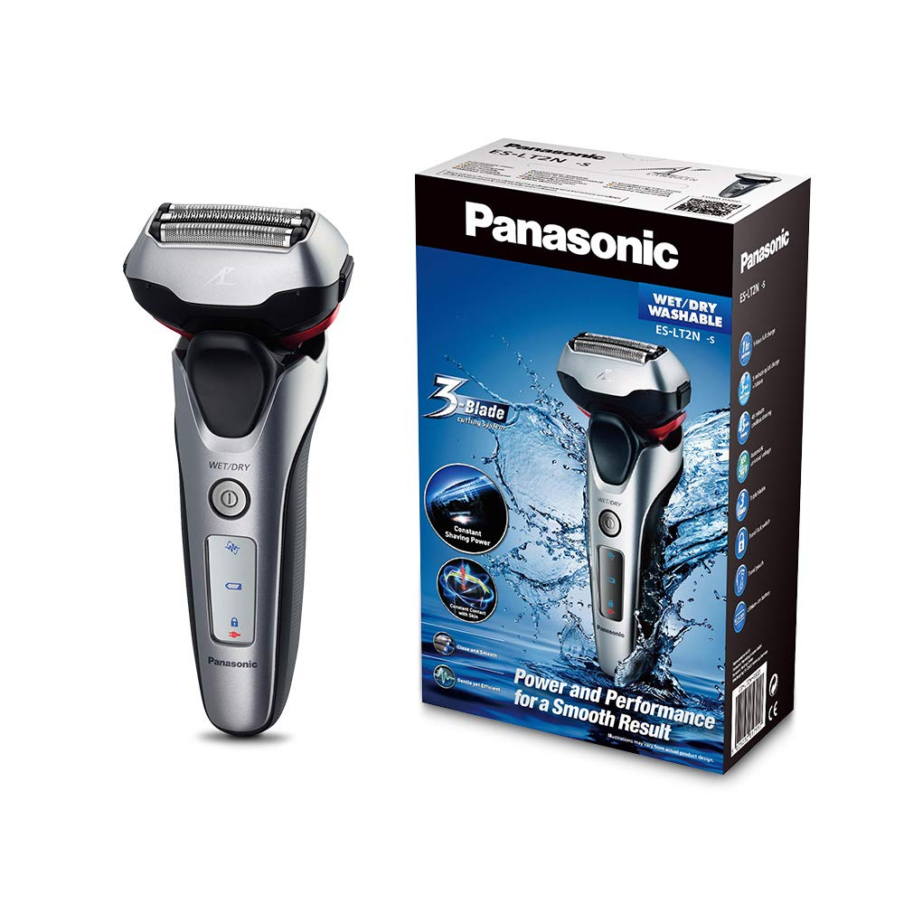Panasonic ES-LT2N-S803 - Afeitadora eléctrica para hombre, 3 hojas, lineal, color 3D plata
