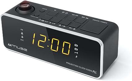 Muse M-188 P Negro - Radio Despertador con Proyector de Hora ...