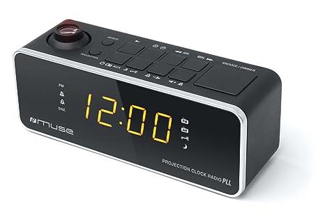 Muse M-188 P Negro- Radio Despertador con proyector de Hora ...