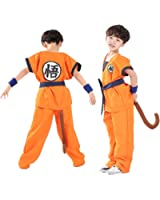 Unisex Adult and Child Halloween Costume Son Goku Suit Outfit Cosplay Costume Kids Halloween Kung Fu Outfit