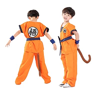 Unisex Child Dragon Ball Z Son Goku Cosplay Costume Kids Halloween Kung Fu Suit  sc 1 st  Amazon.com & Amazon.com: UU-Style Dragon Ball Costume Son Goku Suit Outfit ...