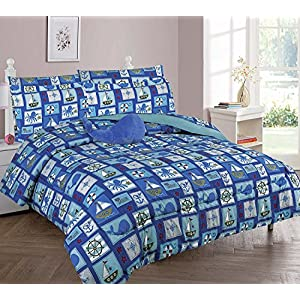 61f7Rt3XKmL._SS300_ Nautical Bedding Sets & Nautical Bedspreads