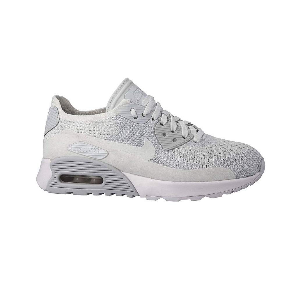 fd4af91906d4 Nike Womens Air Max 90 Ultra 2.0 Flyknit White White Pure Platinum Casual  Shoe