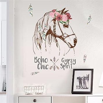 Bomeautify Chambre Fille Princesse Atrium Mur De Fond Autocollant Papier  Licorne Flamingo Bande Dessinée Sticker Mural