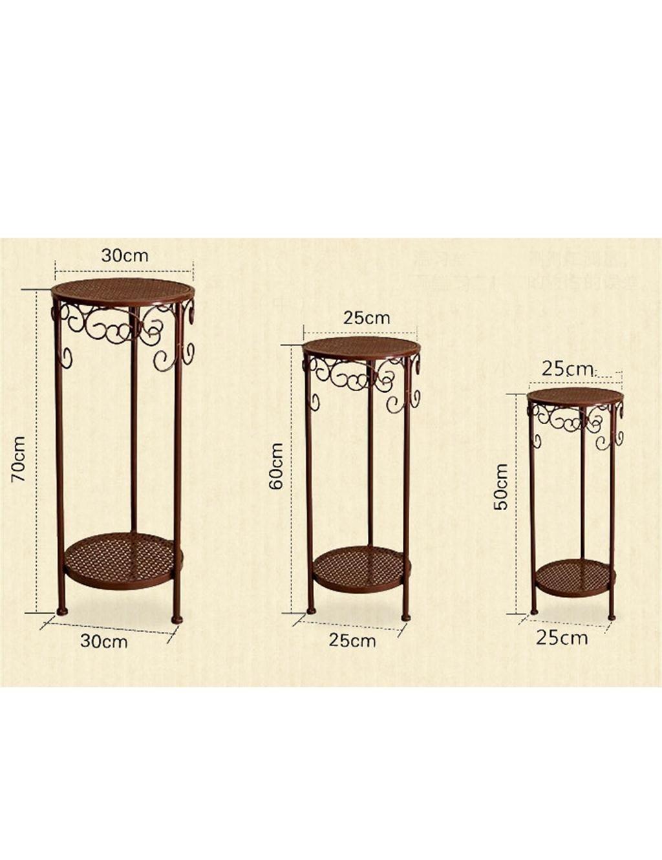 QiangDa Planta de la planta- De estilo europeo de hierro flor pot rack creativo balcón sala de múltiples capas flor olla estante Estantería en maceta ...
