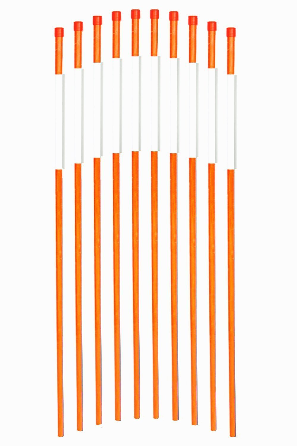 FiberMarker 60-Inch Reflective Driveway Markers Driveway Poles for Easy Visibility at Night 5/16 Inch Diameter Orange, 20 Pack