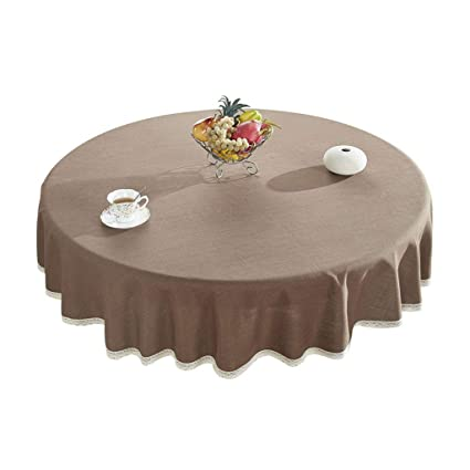 Sensational Amazon Com Round Table Cotton Tablecloth Solid Color Wipe Download Free Architecture Designs Scobabritishbridgeorg