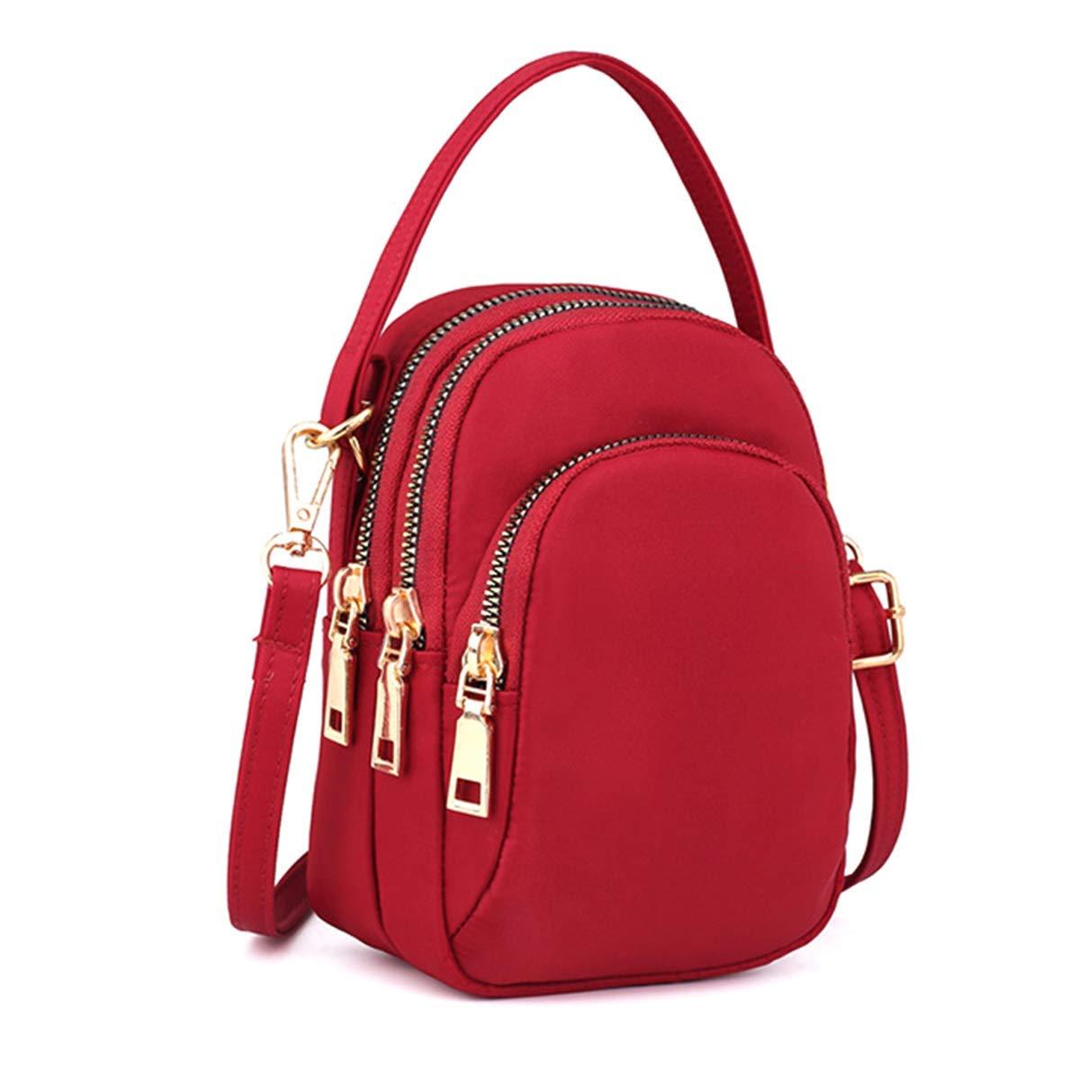 Cxjff nylon vattentät liten mode cross-body väska axelväskor passar dam och flickor (blå) (färg: Grön) Röd