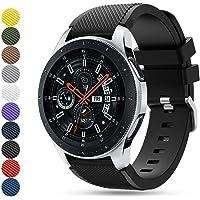 Feskio Twill Adjustable Soft Silicone Replacement Wrist Watch Strap Band Bracelet for Samsung Galaxy Watch (46mm) Smartwatch