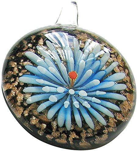 - Linpeng Murano Glass Pendant/Puffy Dome Pendant/Millefiori Chunky Round Pendant/ 3 Pcs Set