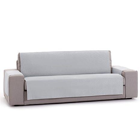 Innovaciones Roser Funda Cubre Sofá Práctica Modelo Kioto, Color Gris, Medida 4 Plazas – 190cm Respaldo