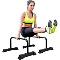 """Yes4All Steel Parallettes Push-Up Bars with Non-Slip Rubber Feet 24x12"""""""