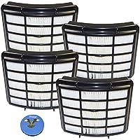 HQRP HEPA Filter 4-Pack for Shark XHF350 fits Navigator Lift-Away NV350 NV351 NV352 NV350_26 NV355 NV356 NV357 NV360 NV360-26 NV351-26 NV356E XHF-350 XH-F350 Series Vac Vacuum Cleaner + HQRP Coaster