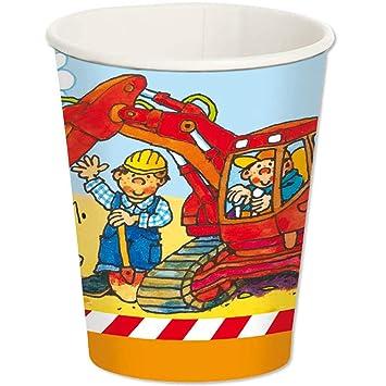 Lutz Mauder 8 Vasos * Excavadora & Obras * para Fiestas de ...