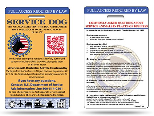 Xpress ID Service Dog ID Card   Includes Registration to National Dog Registry by Xpress ID (Image #2)
