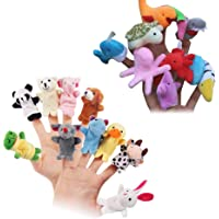 NUOLUX 20pcs Finger Puppets Story Time Finger Doll Props Toy Sea Animal Educational Finger Puppets