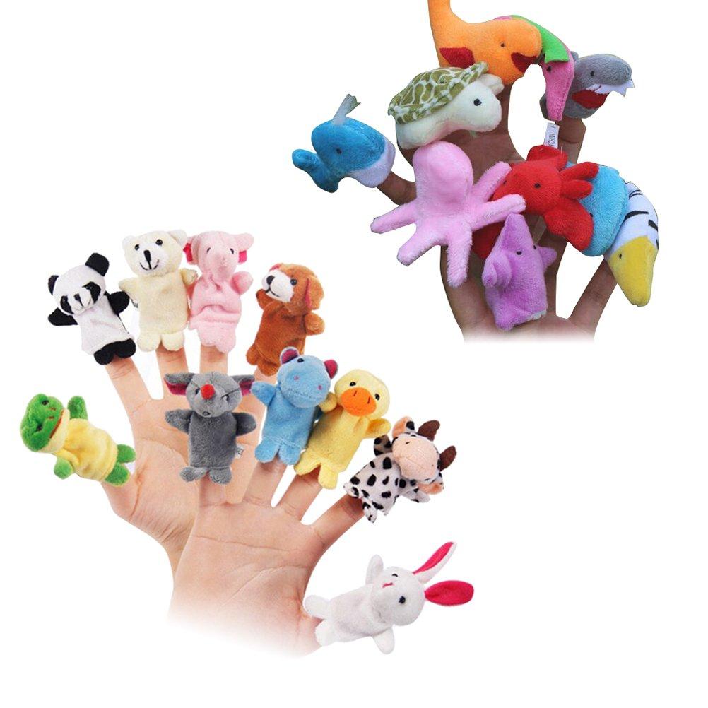 TOYMYTOY Tier Fingerpuppen Finger Tuch Puppen weichen Samt Lernspielzeug (20 Stü ck)